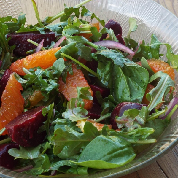 Beet Salad with Oranges and Arugula recipe