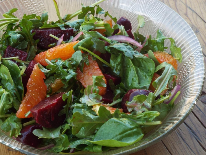 Beet Salad with Oranges and Arugula recipe