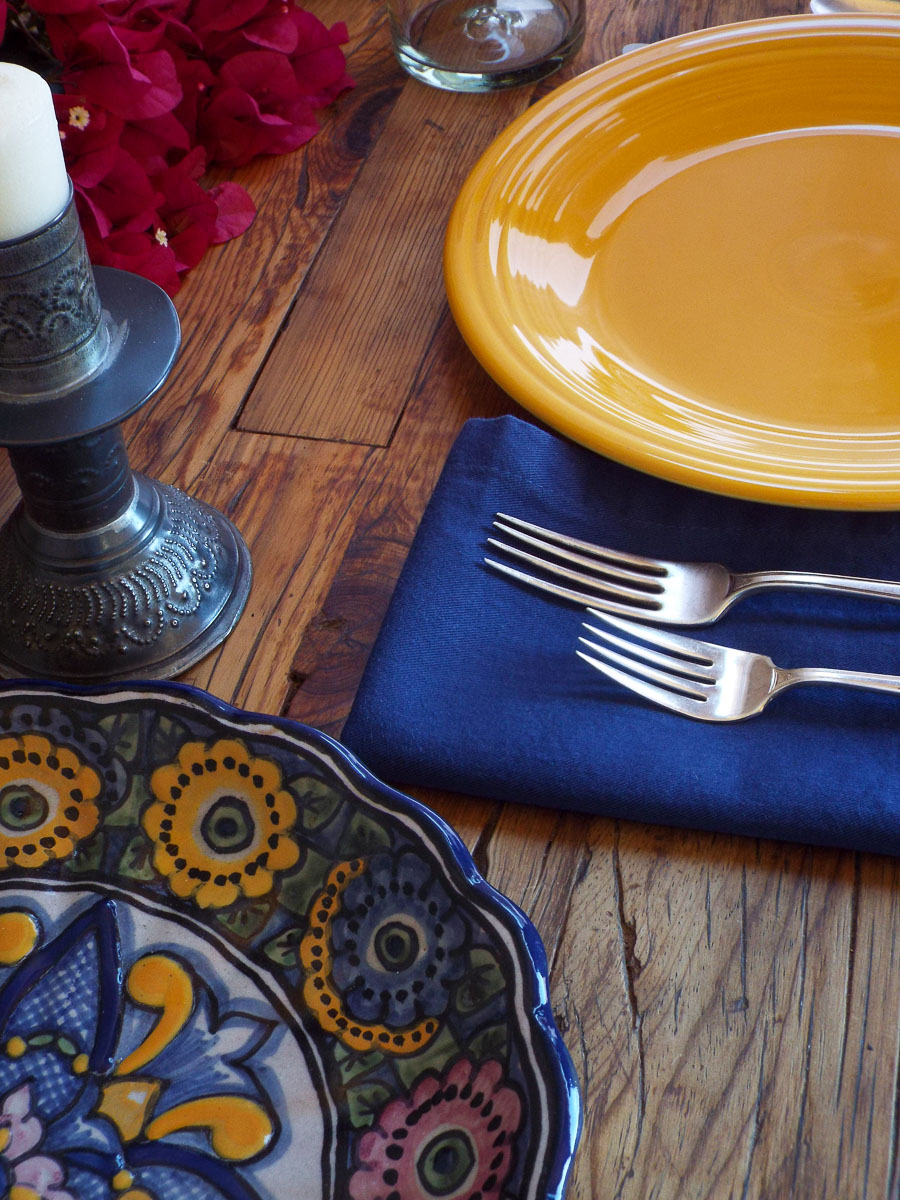 Fiesta Dinnerware and Talavera Tablescape