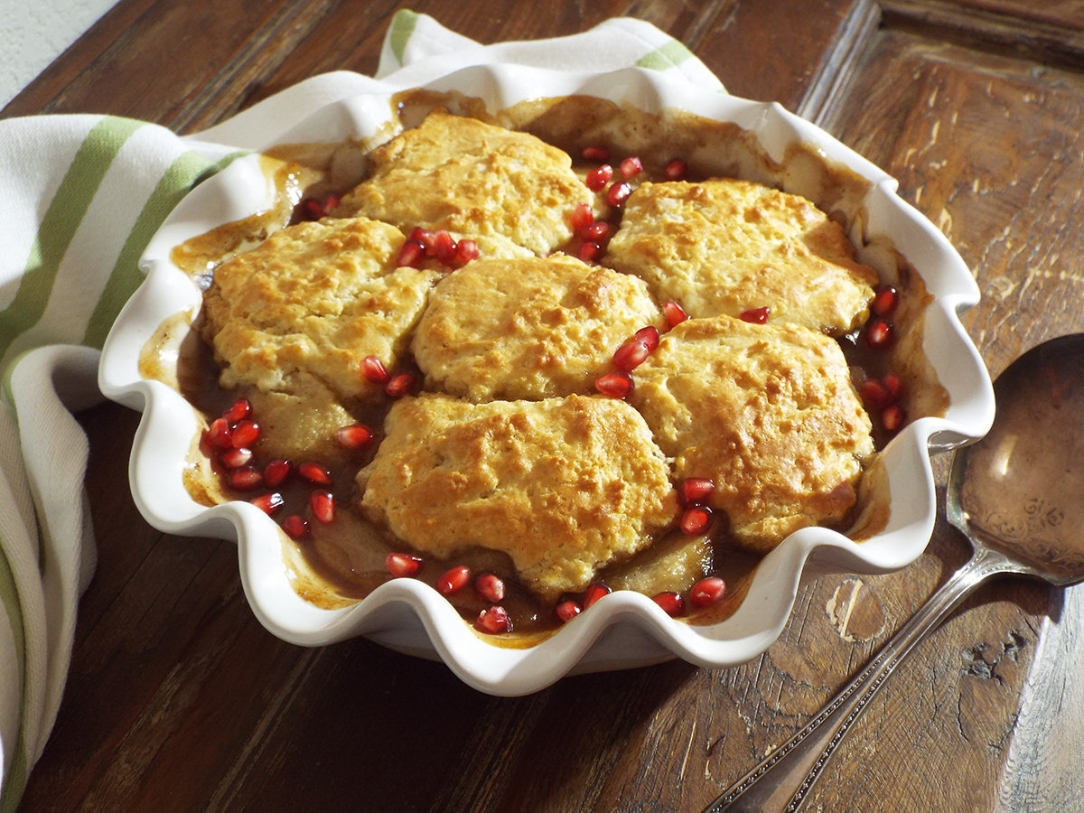Pear and Pomegranate Cobbler recipe