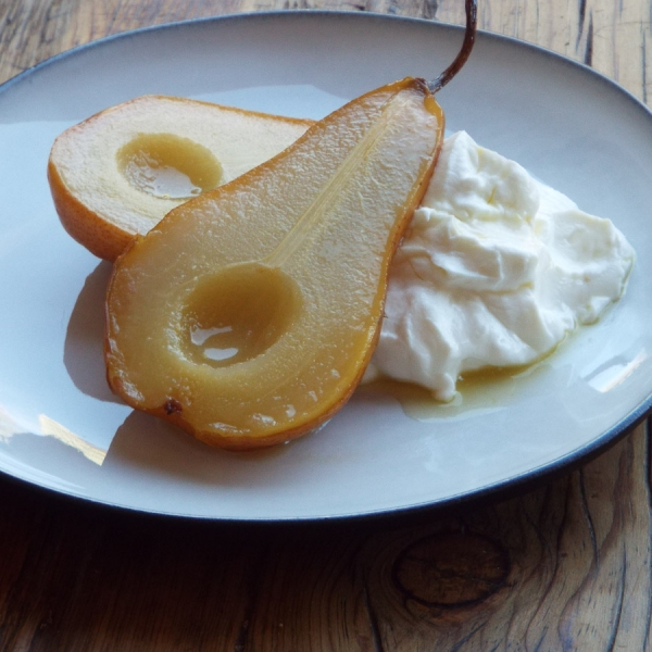 Roasted Pears with Orange Lime Syrup recipe