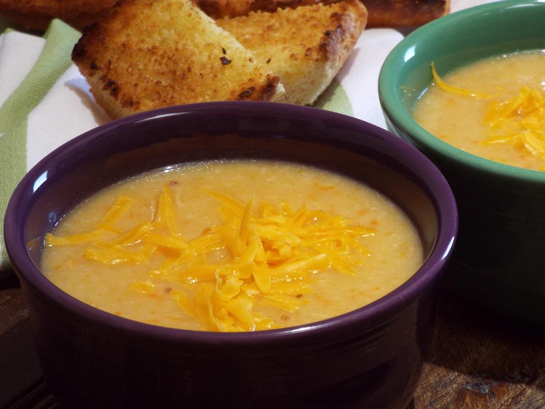 Cauliflower Cheddar Cheese Soup recipe
