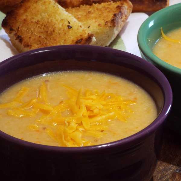 Cauliflower Cheddar Cheese Soup recipe