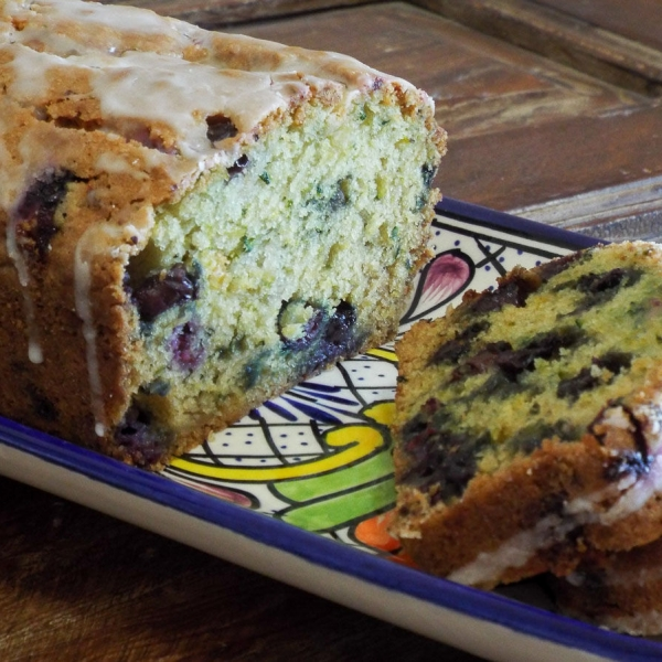 Zucchini Quick Bread with Blueberries and Lime recipe