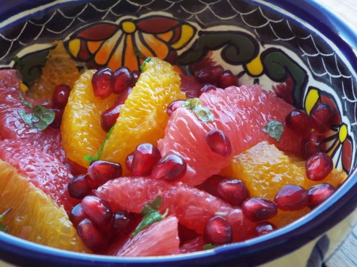 Grapefruit, Orange, Pomegranate Salad