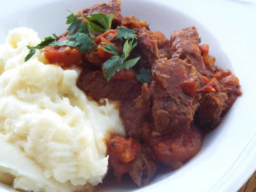 Italian Beef Stew with Rosemary and Tomatoes Recipe