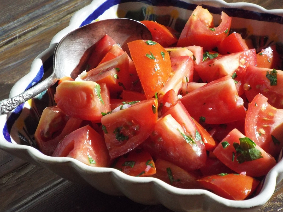 Tomato Salad with Lime Dressing recipe