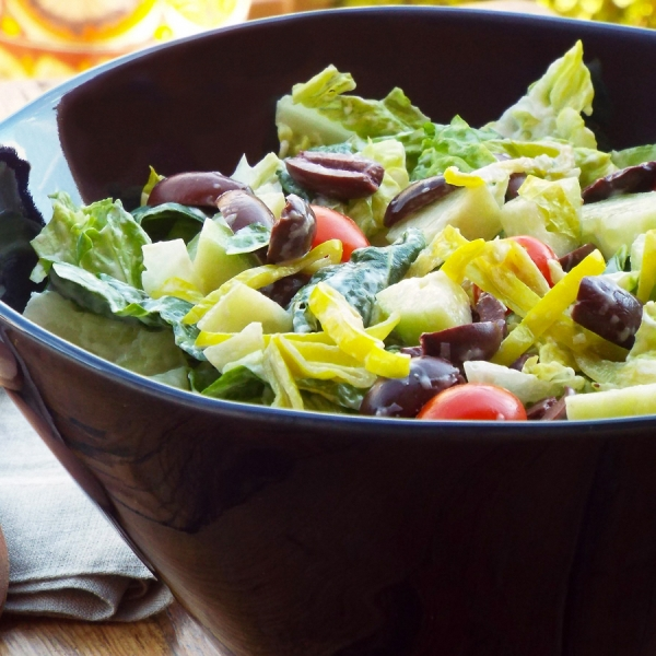 Creamy Parmesan and Olive Salad recipe
