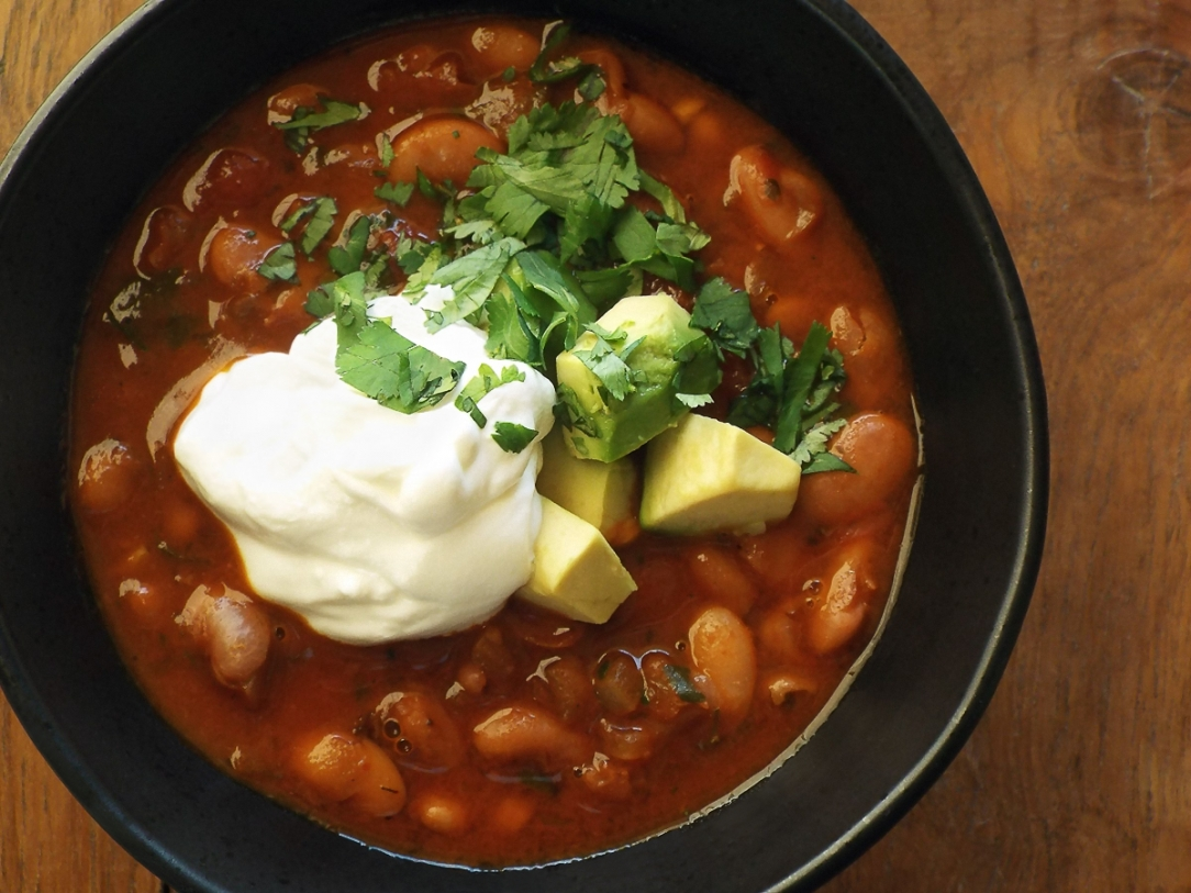 Ancho Pinto Bean Soup recipe