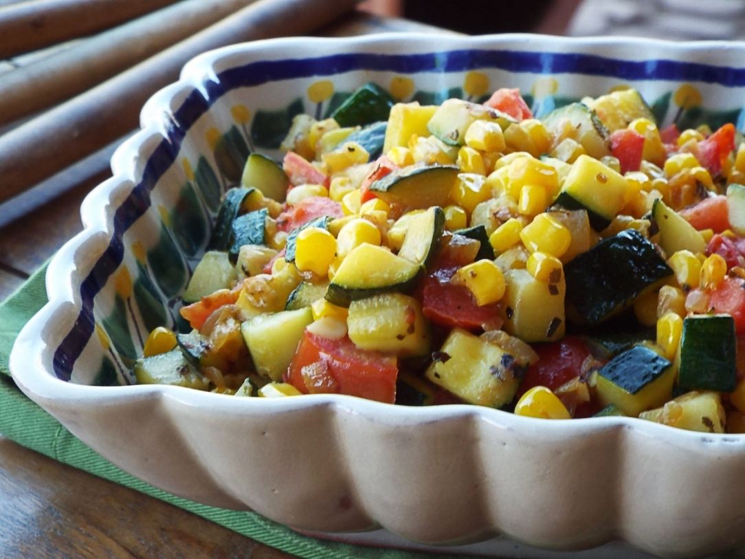 Sautéed Zucchini with Corn and Tomatoes recipe