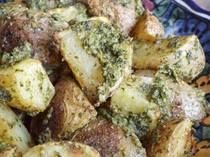 Cilantro Pesto Roasted Potatoes recipe