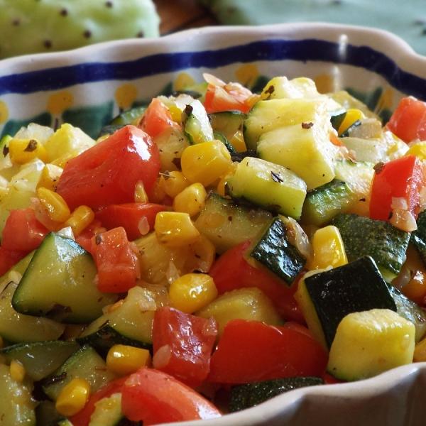 Sautéed Zucchini with Corn and Tomatoes recipe